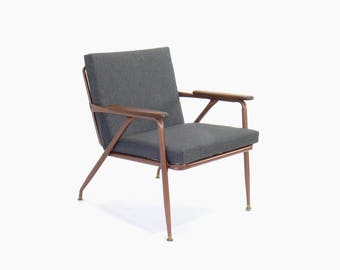 Mid Century Modern Cosco Metal Frame Lounge Chair