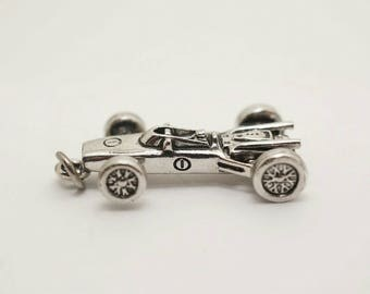 Vintage Sterling Indy Race Car Charm