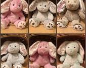 Monogrammed Easter bunny, monogrammed bunny ears, personalized Easter bunny, bunny ears, bunny with name, Custom bunny