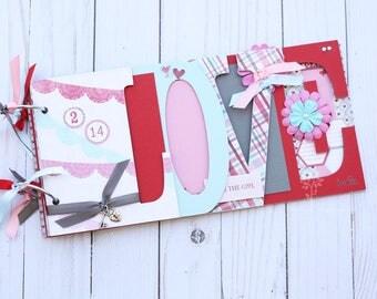 Love scrapbook, Girlfriend gift idea, Wedding album, Gift for boyfriend, wedding gift, wedding guestbook, scrapbook album