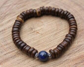 Coconut Lapis Lazuli Bracelet