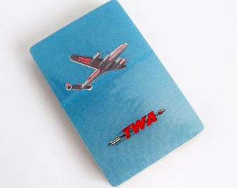 """1947 TWA Playing Cards - Unused - Lockheed """"Connie"""" Constellation Aircraft Graphics"""