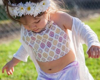 B O H O  C O L LE C T I O N // Mika Crop Halter Top /  Toddler Top / Baby Top / Boho  / Baby clothing / Toddler Clothing / Summer T