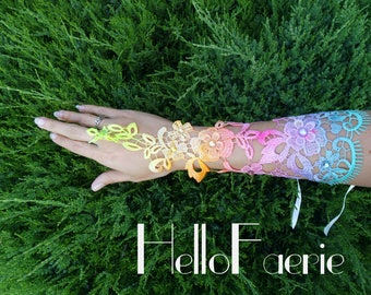 Rainbow Lace Fairy Gauntlets