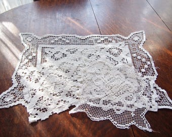 Handmade Lace Doilies Doily Lot of 5 Sicilian Net Lace Vintage