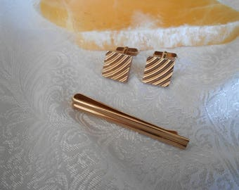 Swank Cuff Links & Tie Bar Set