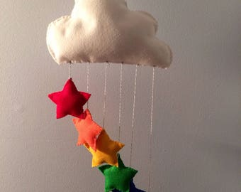 Rainbow Stars Cloud Mobile