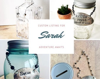 Custom Listing For Sarah- Adventure Awaits- Piggy Bank Made From Vintage Spoon