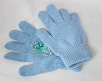 Queen Elsa Knit Gloves (Kid's size)