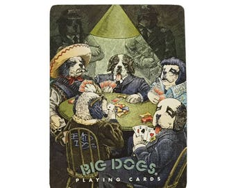 Vintage Bad Dogs Big Dogs Deck of Playing Cards Poker Deck