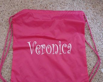 New Beach pool drawstring Backpack Bag Personalized FREE great for Camp, Pool, Makes wonderful favors gifts