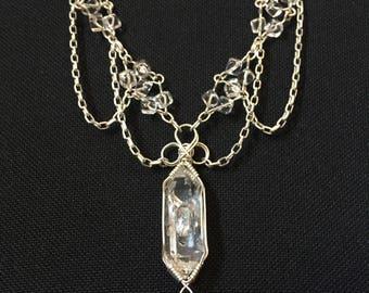 Goddess Quartz and Silver Necklace