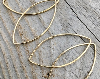 Gold Filled Teardrop Marquise Earring Finding Sterling Silver Jewelry Supplies