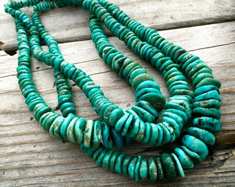 Drilled Turquoise Bead Strand Jewelry Supply