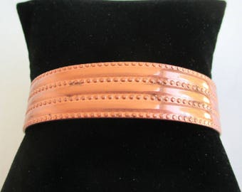 Solid Copper Cuff Bracelet - Vintage, Smooth & Dot Texture