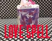Love Spell Soap, Handmade Bar Soap, Handmade Soap, Handmade Love Spell soap, Love Spell Bar Soap, Cold Process Soap, Handmade Bath products