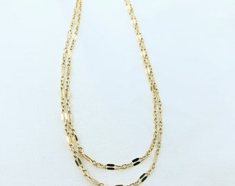 Gold Filled Double Strand Lace Choker Necklace adjustable
