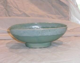 Vintage Aqua Drip Edge Dish