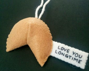 Funny Christmas ornaments naughty fortune cookie Love you longtime