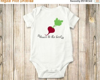 ON SALE Dance to the Beet, Onesie, Bodysuit, Shirt, Music, Farm, Baby Clothing, Children clothing,