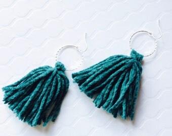 Deep Sea Tassel Earrings, Halloween Tassel Earrings, Handmade Tassels, Ready to Ship