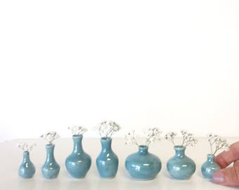 Ceramic vase home docor gift Handmade ceramic bud vase in turquoise glaze