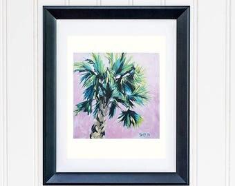 Green Tropical Leaves Print, Leaf Beach House Decor, Banana Leaf Print, Tropical Banana Tree Painting, Modern Botanical Wall Decor Art