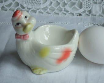 Vintage Porcelain Egg Cup. Duckling. Unmarked.