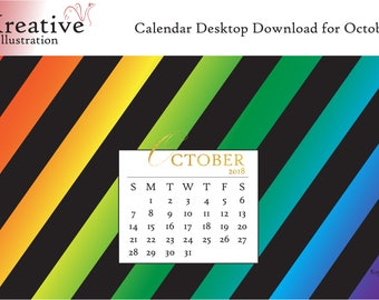 Digital Download: Desktop Calendar October 2018