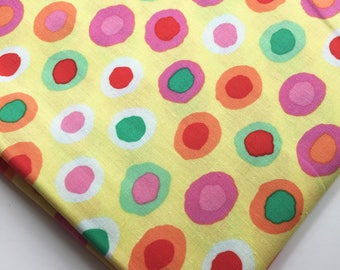 Brandon Mably for Rowan, Westminster Fibers Fabric BM15 Rings, Yellow, OOP, Rare Colorway, Fat Quarter