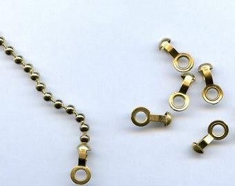 50 Brass Ball Chain Connectors