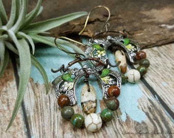 Autumn Harvest - Art Earrings inspired by Nature
