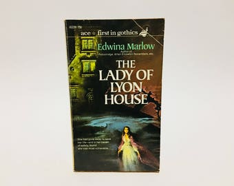 Vintage Gothic Romance Book The Lady of Lyon House by Edwina Marlow 1970 Paperback