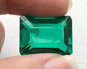 ON SALE 55% 16.15 CTW Green Hydro Quartz Emerald Cut stone, Loose Green Hydro Quartz, Green Ring Size Gemstone, 12x14mm - Ds272