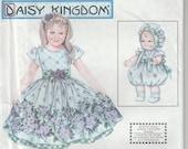 "Dress Pattern Girl and 13"" Doll Dress Daisy Kingdom Girls Size 5 - 6 - 7 - 8  uncut Simplicity 9096"