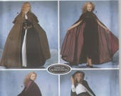 Hooded Cape Pattern Long Cloak Medieval Misses Size XS, S, M, L 6 - 20 Uncut Simplicity 5794