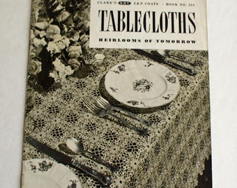 Tablecloth Crochet Pattern Booklet Heirlooms of Tomorrow - Vintage 1949 - Booklet 251