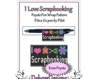 Bead Pattern Peyote(Pen Wrap/Cover)-I Love Scrapbooking