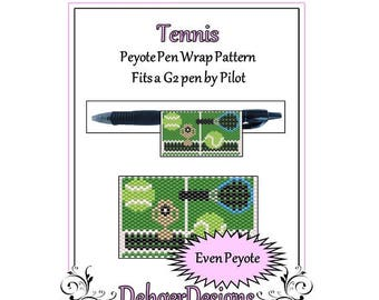 Peyote Beading Pattern (Pen Wrap/Cover)-Tennis