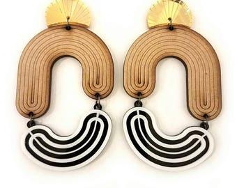MOD DECO - ripple statement earrings