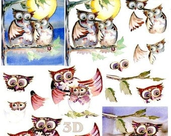 04 - 1 sheet of 3d Images cutting OWL or OWL