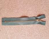 """3X  YKK ZIP Olive Green Brass Metal Jean Zips 6"""" 15cm long Heavy Duty ARMY"""