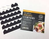 Lineco Black Photo Corners, Self-Adhesive, For use in Scrapbook Albums