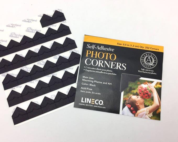 Lineco Black Photo Corners