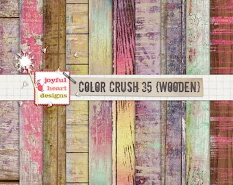 Color Crush 35 {wooden}-10 wood-patterned digital papers, instant download, 12x12 inch, printable :)