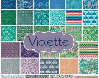 SALE 10% Off - Fat Quarter Bundle - VIOLETTE by Amy Butler - Free Spirit Fabric - 30 FQs