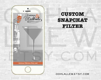 Halloween Party Snapchat Filter, Halloween Snapchat Filter, Halloween Snapchat GeoFilter, Halloween, Costumes and Cocktails Snapchat Filter