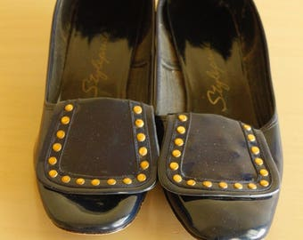 1960s Stylepride Patent Leather Shoes Mod size 6.5 / 7