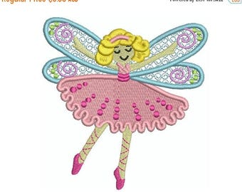 ON SALE DANCE Fairy 1 - Machine Filled Embroidery - Instant Digital Download
