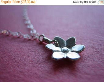 SALE Tiny Bloom Sterling Silver Necklace